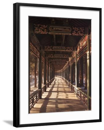 Covered Walkway at Summer Palace in Beijing, China-Dmitri Kessel-Framed Photographic Print
