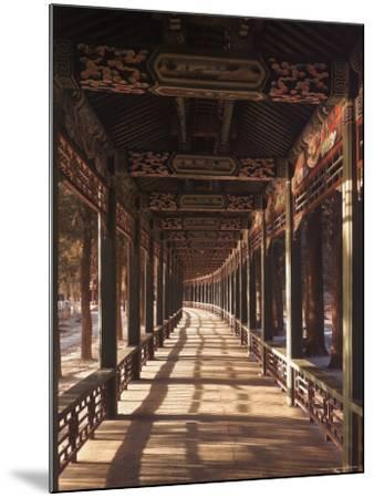 Covered Walkway at Summer Palace in Beijing, China-Dmitri Kessel-Mounted Photographic Print