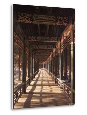 Covered Walkway at Summer Palace in Beijing, China-Dmitri Kessel-Metal Print