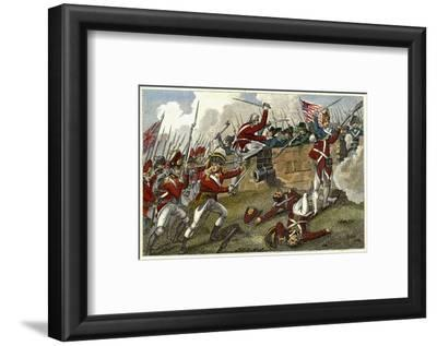 British and American Troops at the Battle of Bunker Hill During the American Revolutionary War--Framed Photographic Print