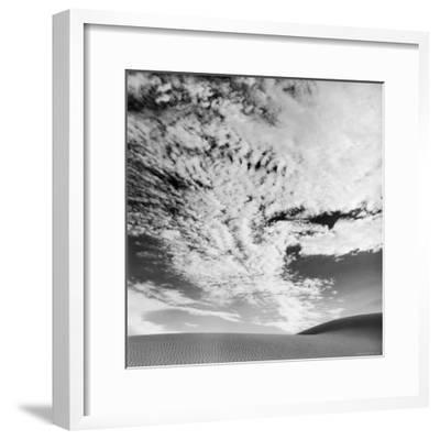 Cloud Covered Open Sky over Desert Landscape-Andreas Feininger-Framed Photographic Print