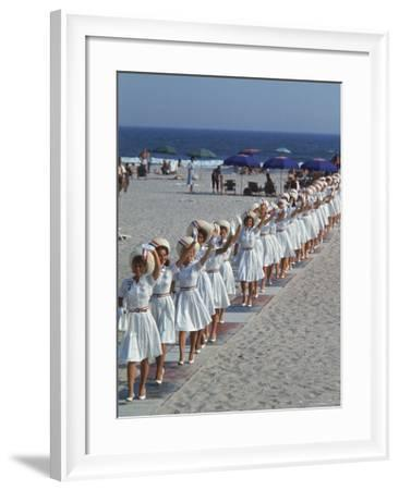 Female Supporters of Presidential Candidate Lyndon B. Johnson, Known as Jersey Johnson Girls-Ralph Crane-Framed Photographic Print
