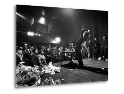 Happening Performed at the Festival of Free Expression-John Loengard-Metal Print
