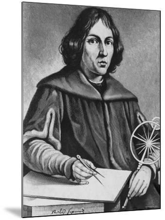 Famed Polish Astronomer Nicolaus Copernicus--Mounted Photographic Print