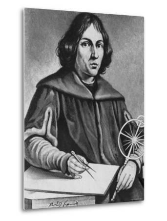 Famed Polish Astronomer Nicolaus Copernicus--Metal Print