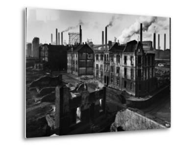 Bomb Damaged Buildings in the Shadow of the Thyssen Steel Mill-Ralph Crane-Metal Print