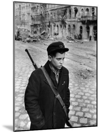 Hungarian Freedom Fighter During Revolution Against Soviet Backed Government-Michael Rougier-Mounted Photographic Print