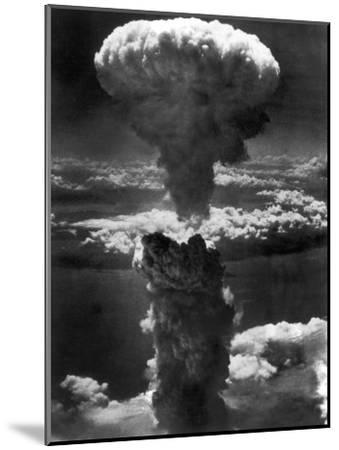 Atomic Bomb Smoke Capped by Mushroom Cloud Rises More Than 60,000 Feet Into Air over Nagasaki--Mounted Photographic Print