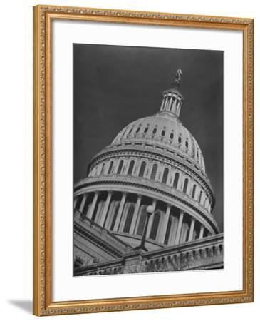 Exterior View of the Dome of the Us Capitol Building-Margaret Bourke-White-Framed Photographic Print