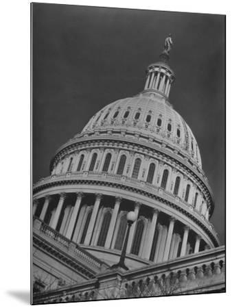 Exterior View of the Dome of the Us Capitol Building-Margaret Bourke-White-Mounted Photographic Print