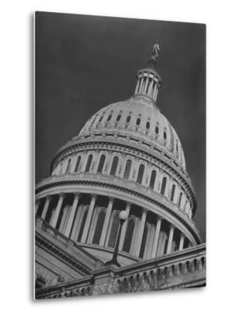 Exterior View of the Dome of the Us Capitol Building-Margaret Bourke-White-Metal Print