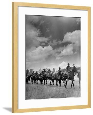 Cavalry in Maneuvers at Ft. Francis Warren-Horace Bristol-Framed Photographic Print