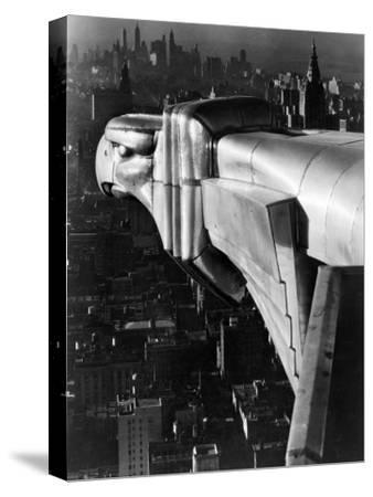 Chrysler Building Gargoyle-Margaret Bourke-White-Stretched Canvas Print