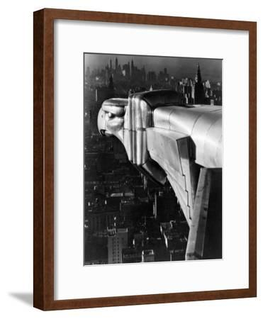 Chrysler Building Gargoyle-Margaret Bourke-White-Framed Premium Photographic Print