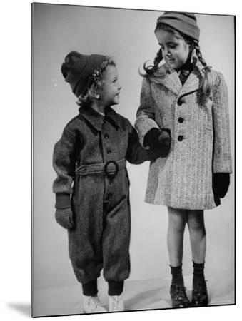 Children Modeling Clothes from a Story Concerning Dresses For Invasion Countries-Nina Leen-Mounted Photographic Print