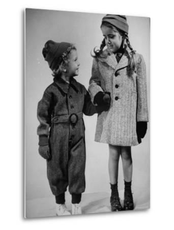 Children Modeling Clothes from a Story Concerning Dresses For Invasion Countries-Nina Leen-Metal Print