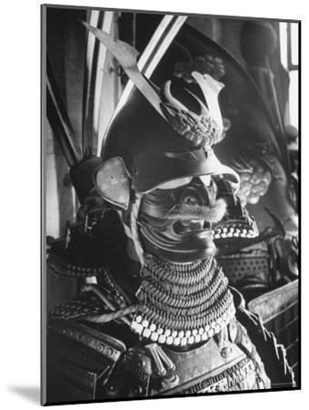 Helmet from Japanese Samurai Suit-Fritz Goro-Mounted Photographic Print