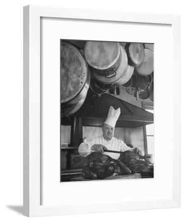 Chief Serving Food-Marie Hansen-Framed Photographic Print
