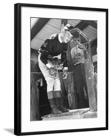 Jockey Weighing in at Race Track-Cornell Capa-Framed Photographic Print