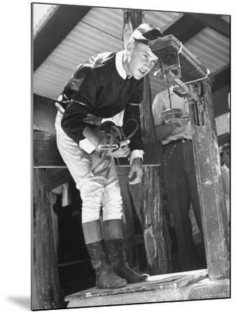 Jockey Weighing in at Race Track-Cornell Capa-Mounted Photographic Print