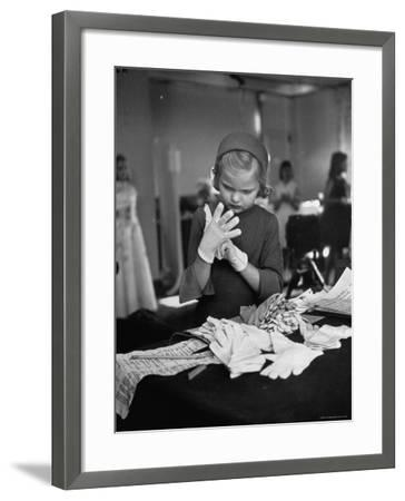Eight Year Old Girl Modeling in a Fashion Show-Nina Leen-Framed Photographic Print