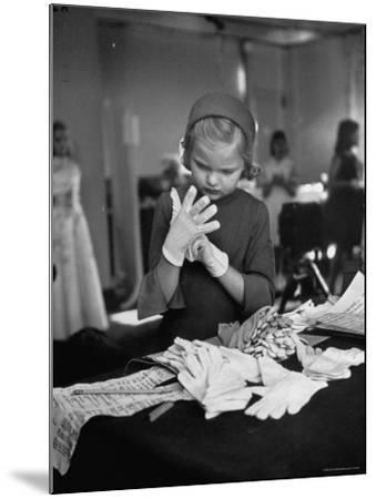 Eight Year Old Girl Modeling in a Fashion Show-Nina Leen-Mounted Photographic Print