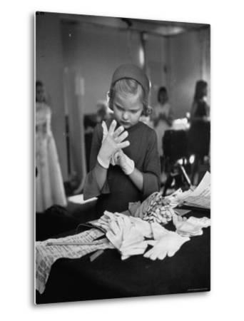 Eight Year Old Girl Modeling in a Fashion Show-Nina Leen-Metal Print