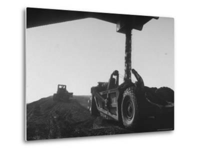Coal Pile at World's Largest Coal Fueled Steam Plant under Construction by the TVA-Margaret Bourke-White-Metal Print