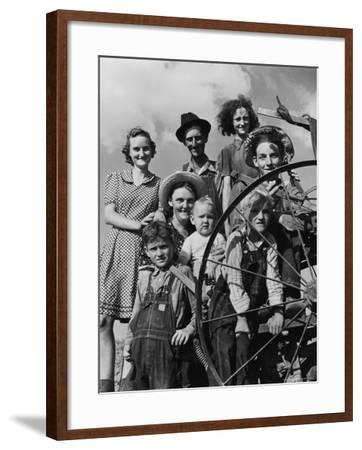 Group Portrait of a Farmer and His Family-Alfred Eisenstaedt-Framed Photographic Print