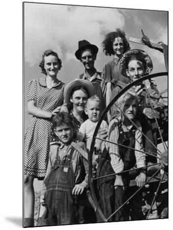Group Portrait of a Farmer and His Family-Alfred Eisenstaedt-Mounted Photographic Print