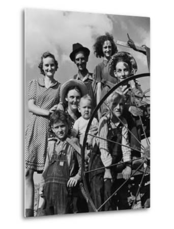 Group Portrait of a Farmer and His Family-Alfred Eisenstaedt-Metal Print