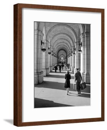 Arched Walkway at Front of Union Station-Alfred Eisenstaedt-Framed Photographic Print