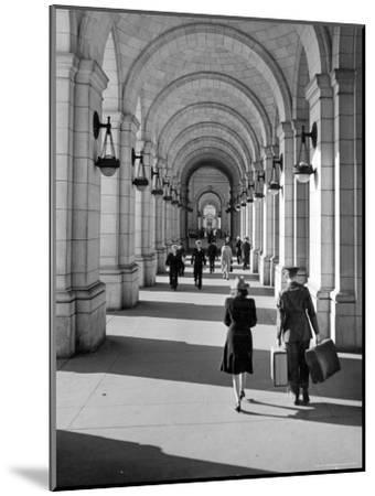 Arched Walkway at Front of Union Station-Alfred Eisenstaedt-Mounted Photographic Print