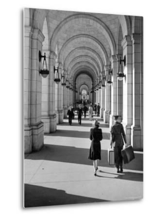 Arched Walkway at Front of Union Station-Alfred Eisenstaedt-Metal Print