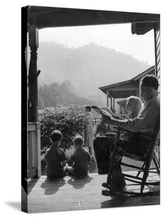 Family Outside in Front Yard of Their Home in Coal Mining Town-Alfred Eisenstaedt-Stretched Canvas Print