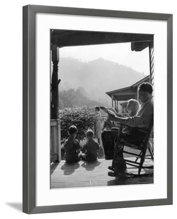 Family Outside in Front Yard of Their Home in Coal Mining Town-Alfred Eisenstaedt-Framed Photographic Print