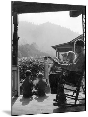 Family Outside in Front Yard of Their Home in Coal Mining Town-Alfred Eisenstaedt-Mounted Photographic Print