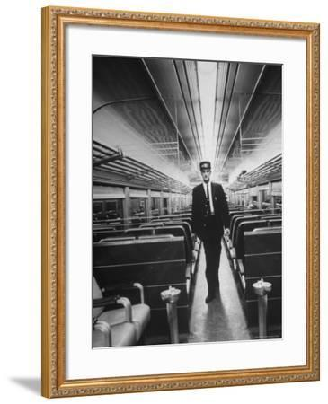Commuters on the New Haven Line-Alfred Eisenstaedt-Framed Photographic Print