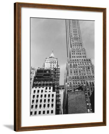 Looking West from Pearl Street to Pine Street in Lower Manhattan-Walker Evans-Framed Photographic Print