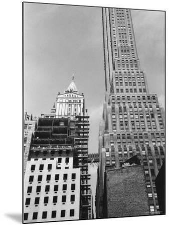 Looking West from Pearl Street to Pine Street in Lower Manhattan-Walker Evans-Mounted Photographic Print
