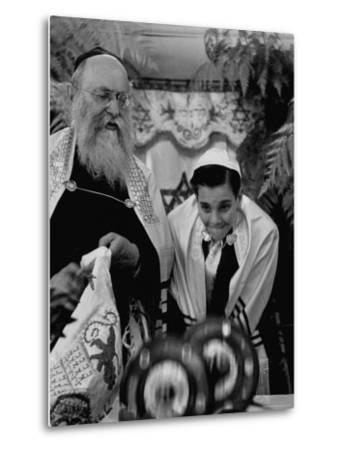 Carl Jay Bodek During Hebrew Ceremony with Rabbi David S. Novoseller-Lisa Larsen-Metal Print