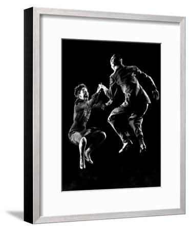 Professional Dancers Willa Mae Ricker and Leon James Show Off the Lindy Hop-Gjon Mili-Framed Photographic Print