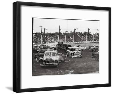 Action at a Demolition Derby-Henry Groskinsky-Framed Photographic Print
