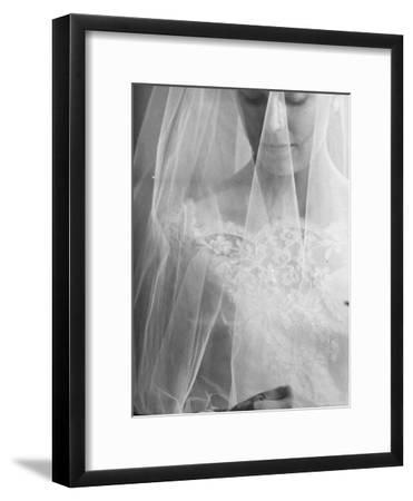 Double Ring Ceremony in Oakes, North Dakota, Bride is Putting Ring on Groom's Finger-Michael Rougier-Framed Photographic Print