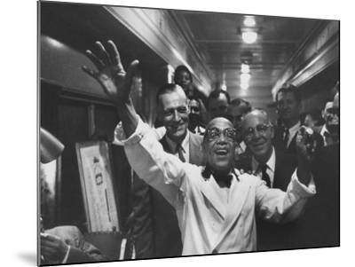 Party Aboard New Haven Train-Peter Stackpole-Mounted Photographic Print