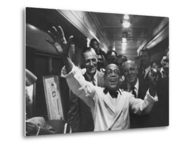 Party Aboard New Haven Train-Peter Stackpole-Metal Print