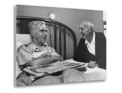 John H. Heblich Visiting Elderly Man in Bed with Broken Hip-Francis Miller-Metal Print