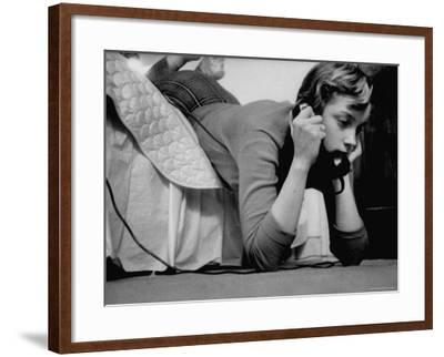 Ginny Nyvall Talking on the Phone-Grey Villet-Framed Photographic Print