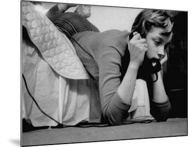 Ginny Nyvall Talking on the Phone-Grey Villet-Mounted Photographic Print
