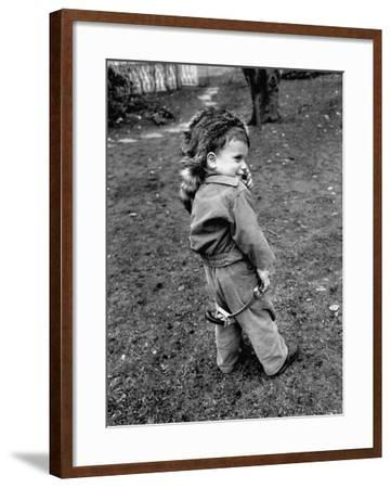 Boy Wearing a Davey Crockett Hat-Ralph Morse-Framed Photographic Print